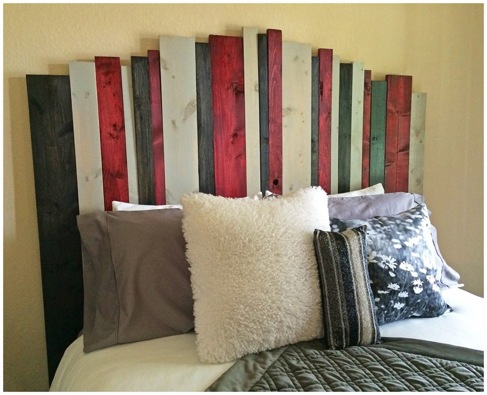 Diy hill country headboard home style austin for Makeshift headboard
