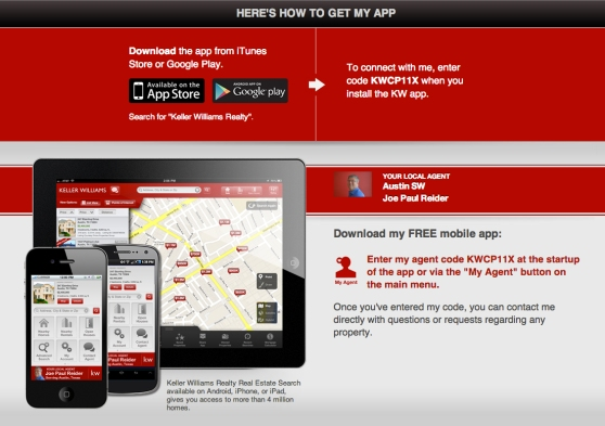 The New Keller Williams Mobile App For Joe Paul Reider, Realtor