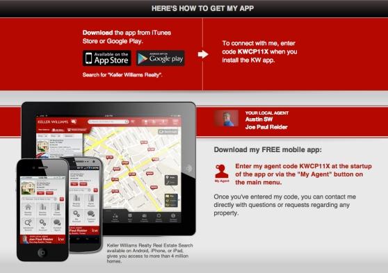 The New Keller Williams Mobile App For Joe Paul Reider, Realtor