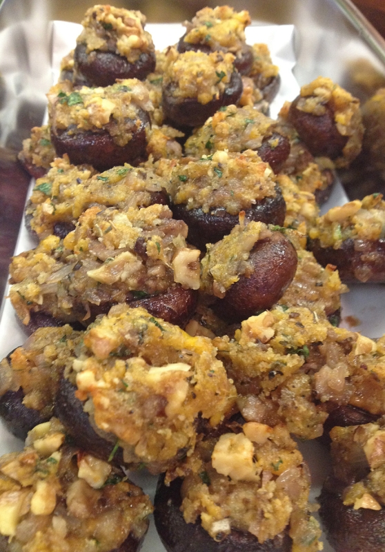 Walnut Stuffed Mushrooms Ready To Serve