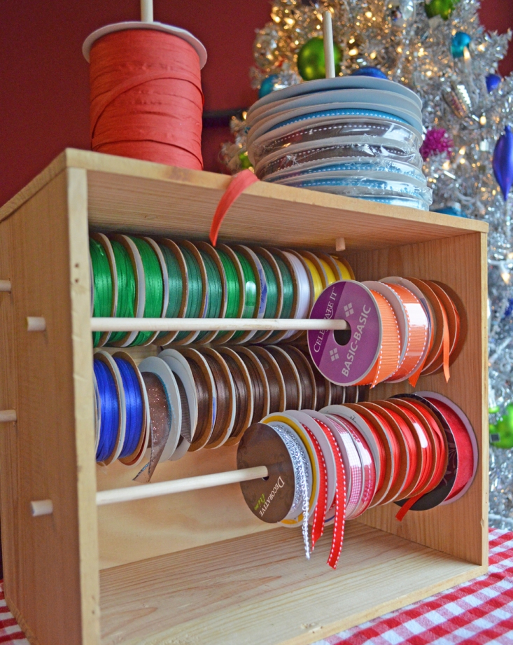 A DIY Ribbon Organizer Project From Home Style Austin