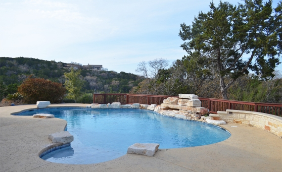The Swimming Pool At 8133 Breeze Way Jonestown Texas