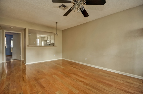 Living And Dining Rooms At 2104 Cullen Avenue #121 Austin Texas