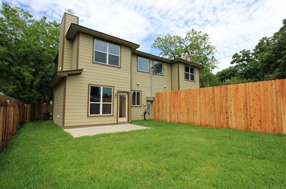 The Spacious Backyard at 3407 Banton Road #B, Austin, Texas 78722