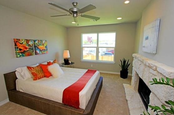 The Master Bedroom at 3407 Banton Road #B, Austin, Texas 78722