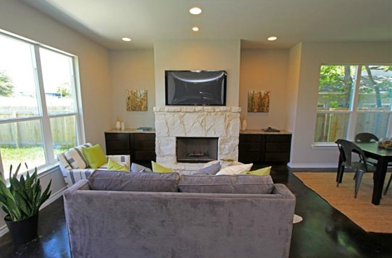 Another View of the Living Room at 3407 Banton Road #B, Austin, Texas 78722