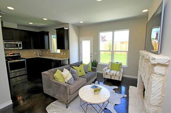 The Living Room at 3407 Banton Road #B, Austin, Texas 78722