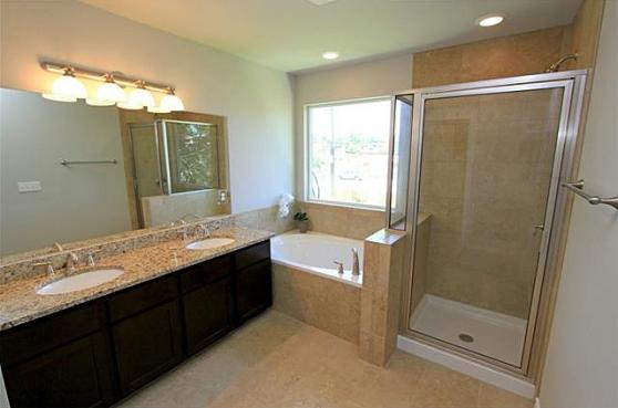 The Master Bath at 3407 Banton Road #B, Austin, Texas 78722
