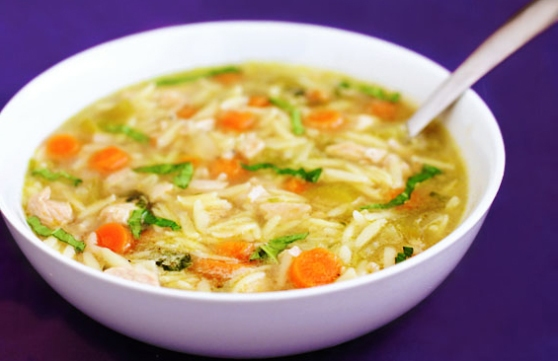 A Basil-Chicken Orzo Soup Recipe From Home Style Austin