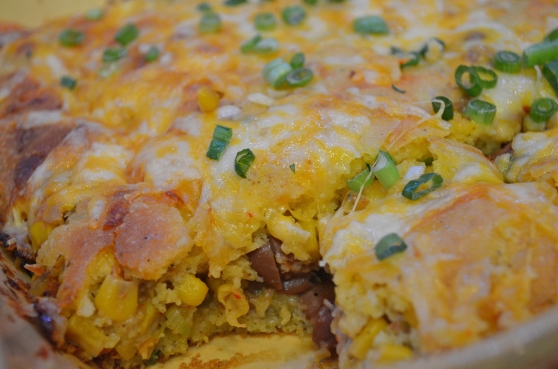 Spicy Stuffed Cornbread Recipe