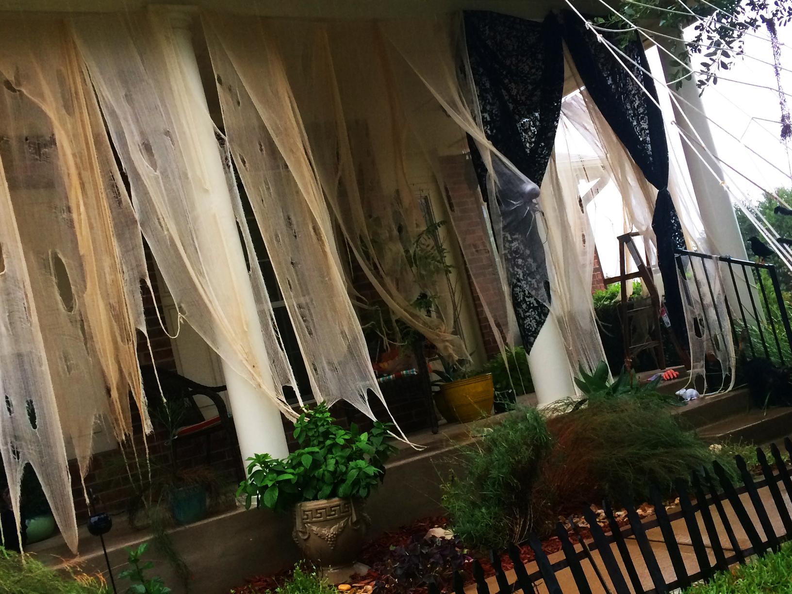 Diy creepy halloween curtains home style austin how to make creepy halloween curtains solutioingenieria Choice Image