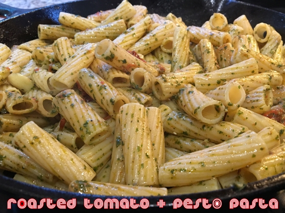 Roasted Tomato and Garlic Pesto Pasta