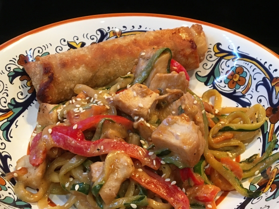 Spicy Thai Chicken And Zoodles Recipe